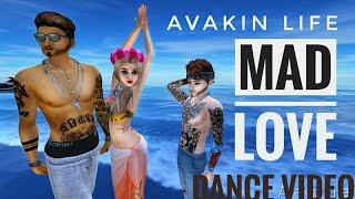 Sean Paul, David Guetta - Mad Love ft. Becky G : avakin life Dance💙💚💛💜