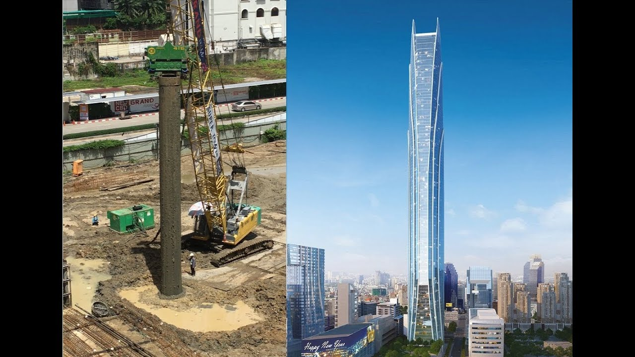 Rama IX Super Tower/Bangkok - Aug 2017 Construction Update -  615m Tower