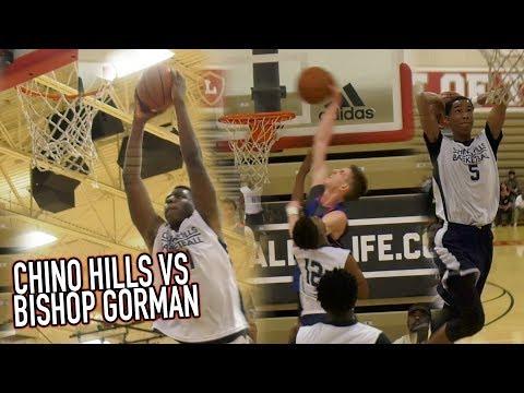 Chino Hills VS Las Vegas RIVAL Bishop Gorman! Andre Ball BANGOUTS + Someone Almost Got BODIED!