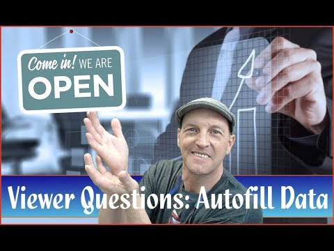 Filemaker Series: Autofill Data Questions and Answers