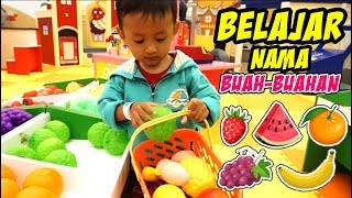 Belajar Nama Buah-buahan Di Playground Super Market | Video Belajar Anak-anak Homescholling Zara