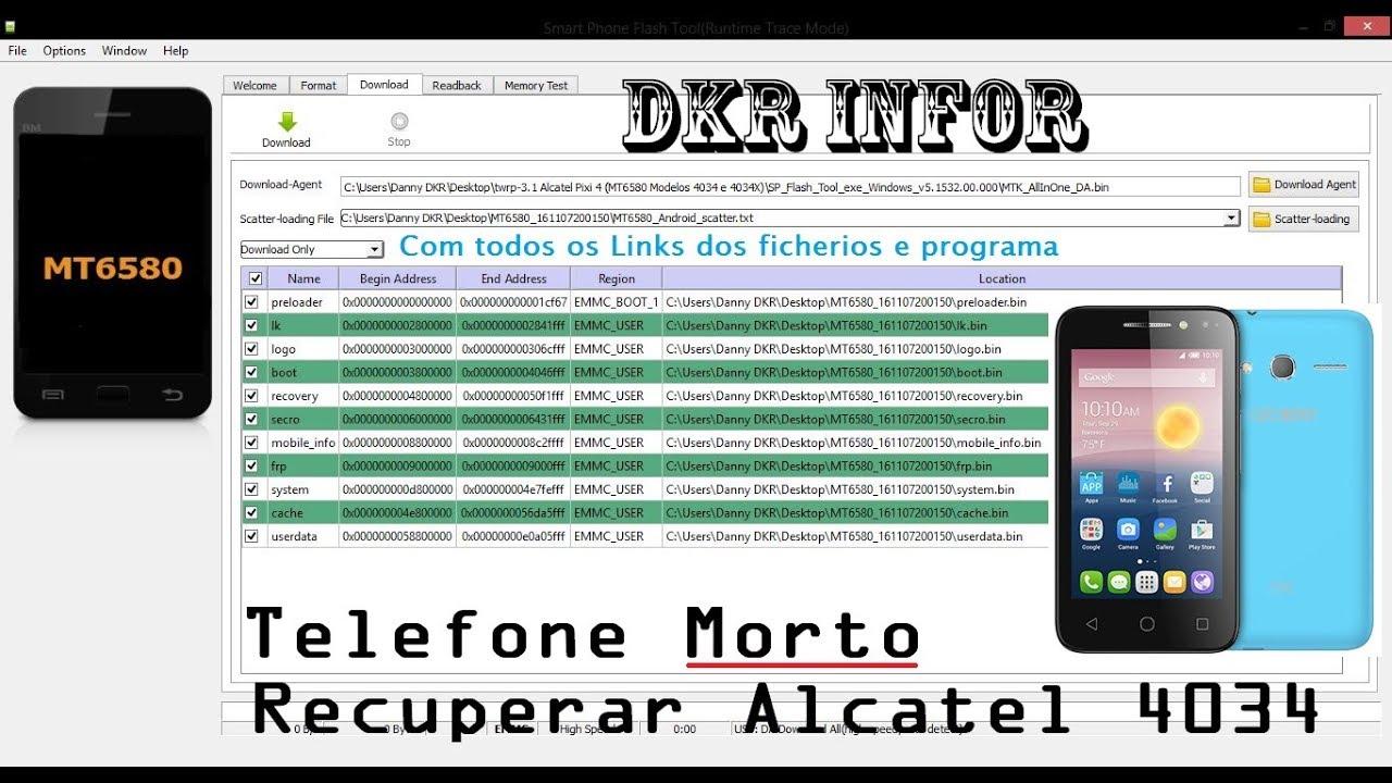 Flashear pixi 4 (4034x) Links na discrição (Rom, drivers e Software  utilizado) [DKR infor]