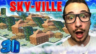 JE REPRODUIS UNE VILLE  EN SKYBASE SUR FORTNITE BATTLE ROYALE !!!