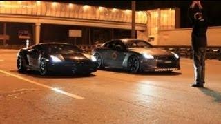 Lamborghini Gallardo UR TT vs Nissan GTR AMS Alpha 12.