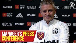 Manager's Press Conference   Manchester United v West Ham United   Ole Gunnar Solskjaer