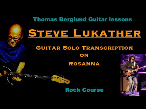 "Guitar solo transcription - Steve Lukather on ""Rosanna"""