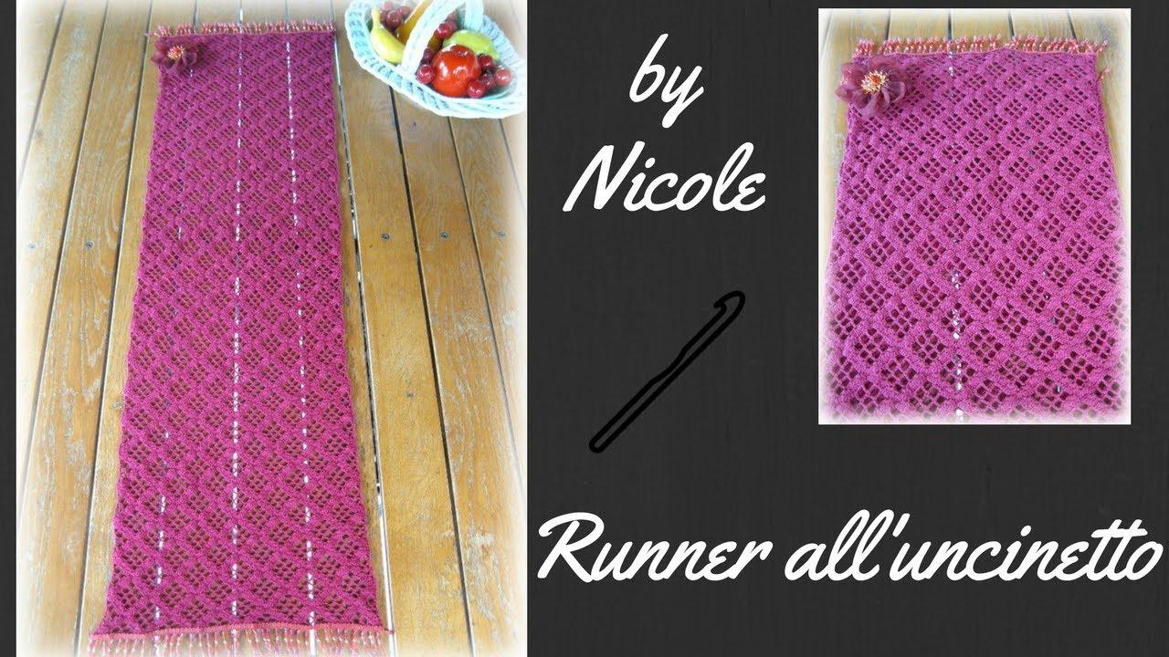Runner Alluncinetto Centrino Rettangolare Alluncinetto Crochet A