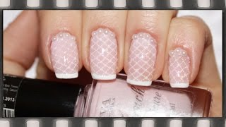 Нежный французский маникюр. Стемпинг | Wedding French Manicure. Stamping Nail Art