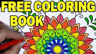 For you! Free mandala coloring book! 💗🎨📚30 relaxing mandala design patterns to print and color