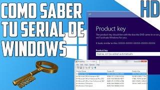 Como saber tu Serial de instalacion o Key de tu Sistema operativo Windows 7/8/8.1