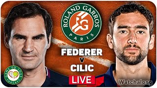 FEDERER vs CILIC | French Open 2021 | LIVE GTL Tennis Watchalong