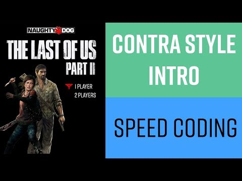 The Last Of Us 2 Contra Style Intro - Speed Coding HTML CSS And Javascript