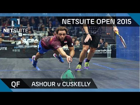 Squash: NetSuite Open 2015 Quarter-Final Highlights - Ashour v Cuskelly