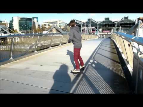 Ripstick Street Surfer on Sean O'Casey Bridge in Dublin City