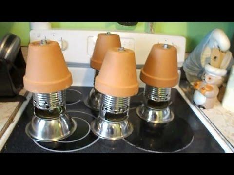 One Candle Terra Cotta Heater Youtube