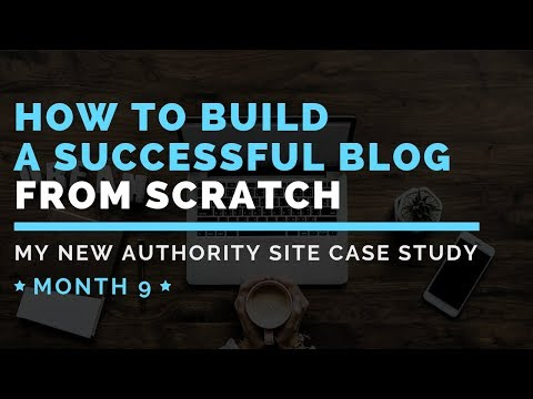 How To Build A Successful Blog From Scratch #11: New Authority Site Case Study [Video Update 11]