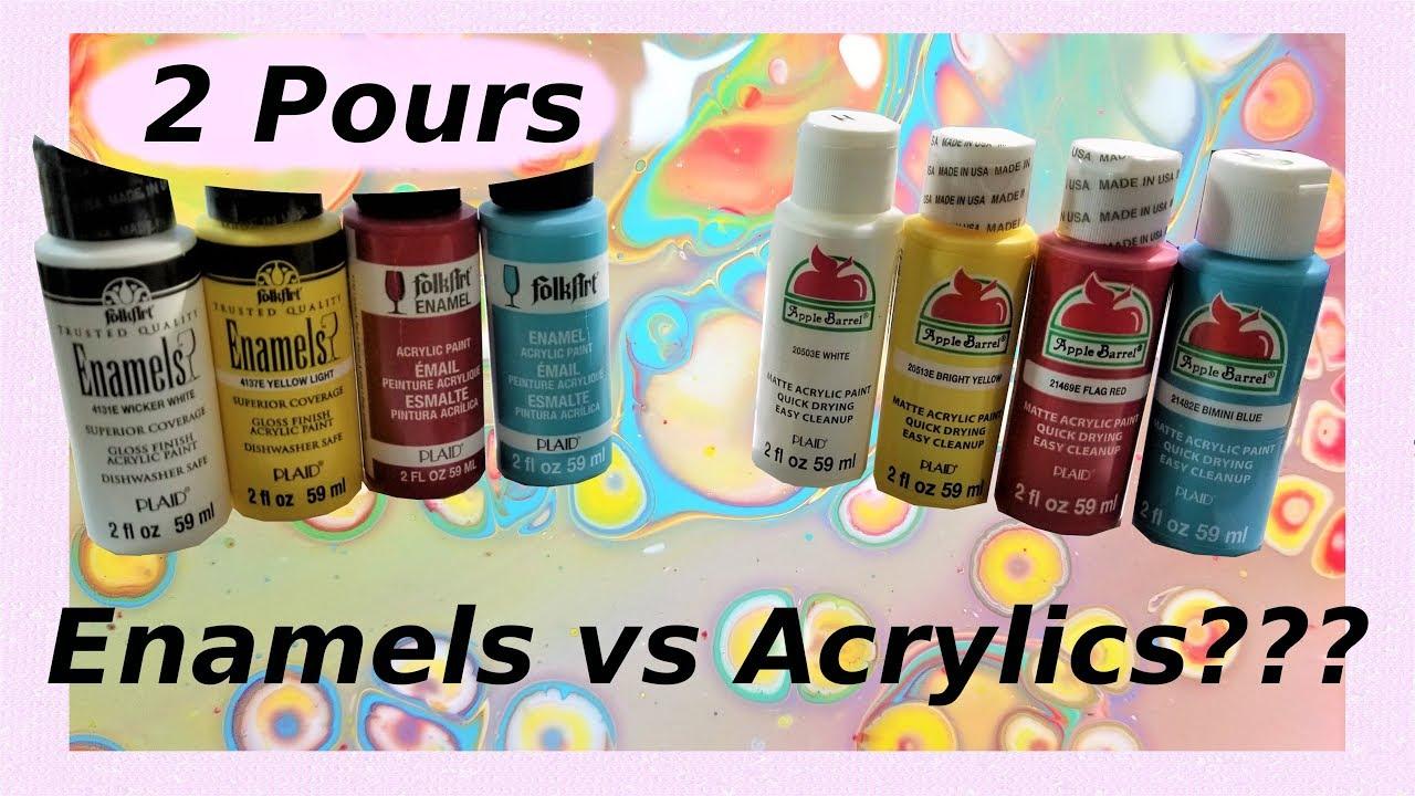 Acrylic Enamel Paint >> Pour Painting Enamel Vs Acrylic Paint