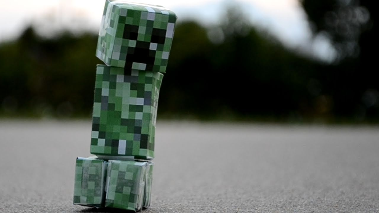 Minecraft creeper real life