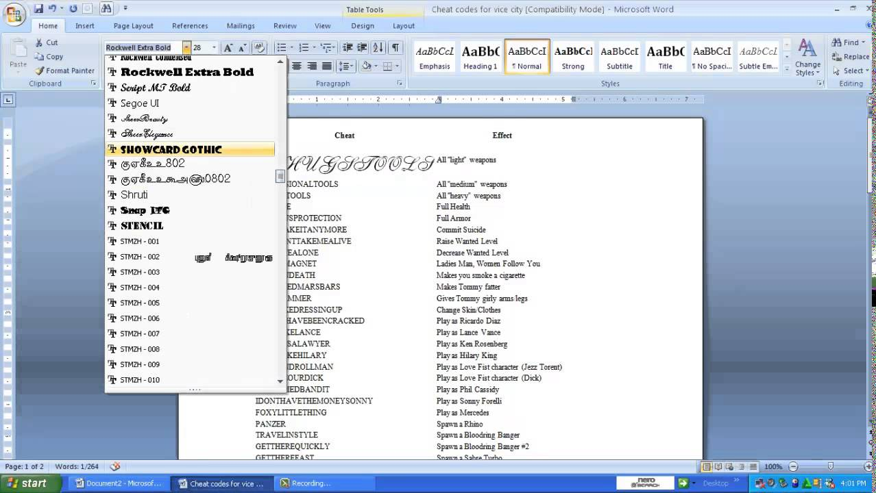 Stencil Letters In Microsoft Word