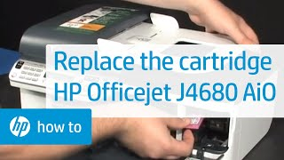 Replacing a Cartridge - HP Officejet J4680 All-in-One Printer