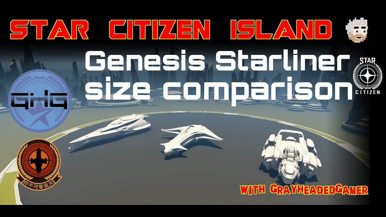 Star Citizen Island - Genesis Starliner size comparison ...