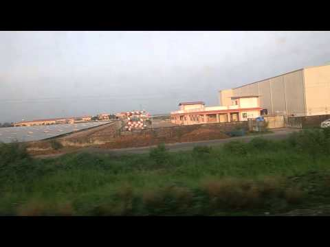 Cochin airport from train from Aluva to Ankamally