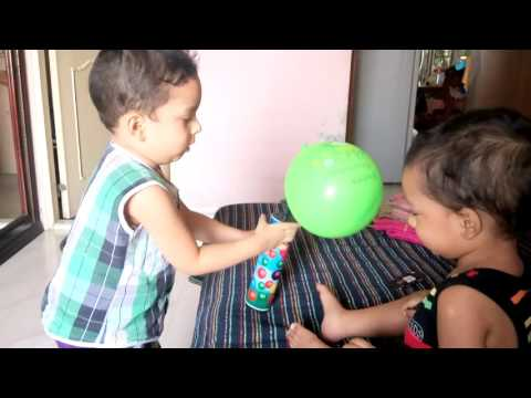 Brothers with baloon (omar & abdullah)