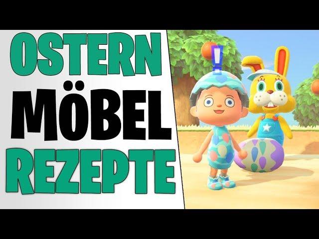 HÄSSCHENTAG ERKLÄRT - Alle 6 Oster Eier & Möbel Rezepte | Animal Crossing New Horizons Tipps deutsch