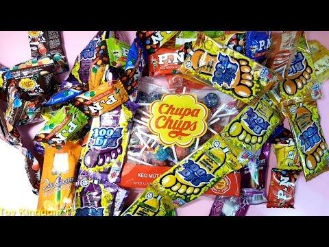 Anh nhện đỏ bóc kẹo - Rất nhiều kẹo chupa chups ,kem mút,kẹo dâu,kẹo nho,dynamite