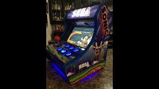 "10"" Sonic The Hedgehog Mini Arcade Machine with Hyperspin, Hyperspin Demo"
