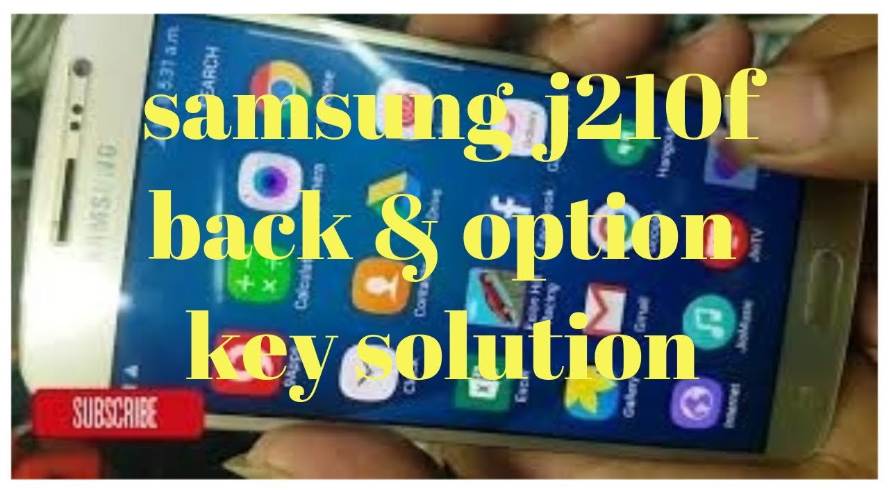 J2(6) back key option key solutions   by cell on mobile