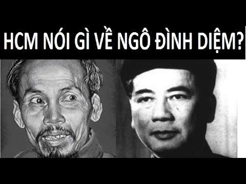 HCM nói gì về Ngô Đình Diệm trước lúc qua đời ?