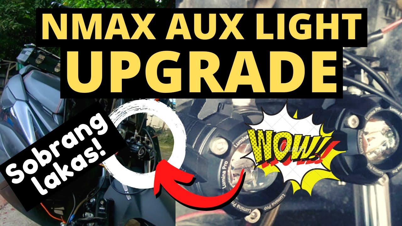NMAX Auxillary Light Upgrade | LuminaPro Eclipse Review