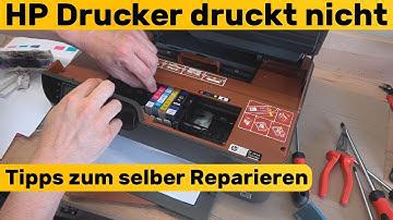 HP Drucker druckt nicht - Kopf reinigen - Druckerwagen lösen