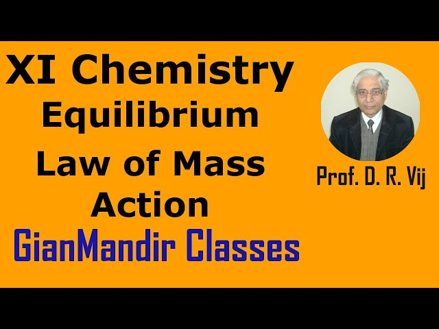XI Chemistry - Equilibrium - Law of Mass Action by Ruchi Mam