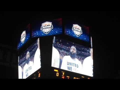 Derrick Rose introduced at United Center for USA Basketball vs. Brazil