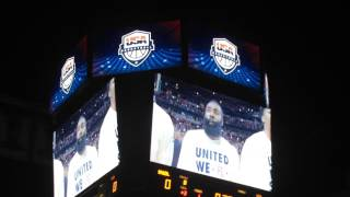 Derrick Rose introduced at United Center for USA Basketball vs. Brazil