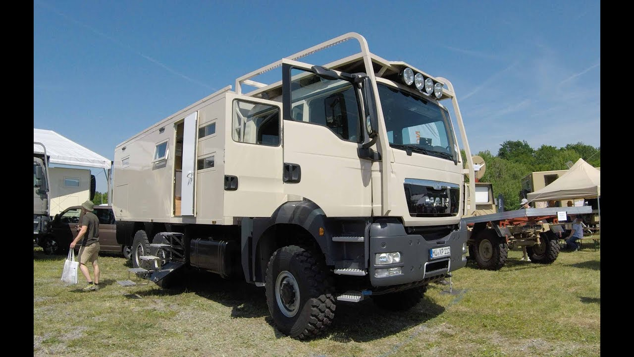 MAN double cab mega Camper expedition luxus vehicle walkaround - YouTube