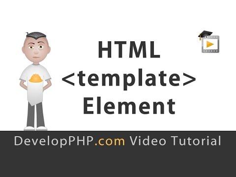 HTML5 template Element Tutorial JavaScript Programming