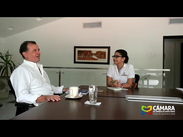 César Riascos Noguera, presidente de la Cámara de Comercio de Santa Marta para el Magdalena