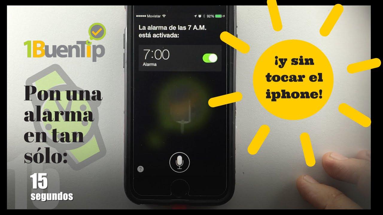 Activar y desactivar alarma con Siri - YouTube