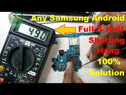 How To Repair Any SAMSUNG ANDROID Full & Half Shorting Fully Hang Logo 100% Tested Solution