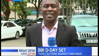 Team to hand over BBI report to the president Uhuru and Raila Odinga on Tuesday 26th November