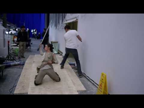 Star Wars The Force Awakens - Behind The Scenes - Making of The Snow Fight Part 2