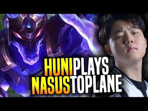 Huni Insane Nasus Lategame vs Faker! - SKT T1 Huni SoloQ Playing Nasus Top! | SKT T1 Replays