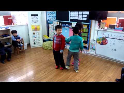 Kindergarten kids in orbit: Earth, Moon, Sun