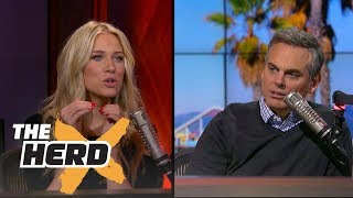 Steve Kerr wears a 'Supervillains' shirt to press conference - Kristine and Colin react | THE HERD thumbnail