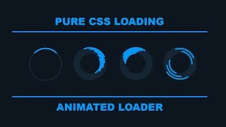 Pure CSS Loader -  Animated Loading effect for Your website Using HTML and CSS