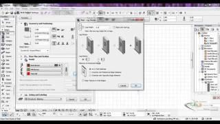 الدرس الثالث : شرح عمل مخطط في برنامج الارشيكاد archicad والتعامل مع الجدران