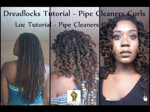Loc Tutorial- Pipe Cleaners Curls/ Dreadlocks- Pipe Cleaners Curls- Foss Nati - YouTube  sc 1 st  YouTube & Loc Tutorial- Pipe Cleaners Curls/ Dreadlocks- Pipe Cleaners Curls ...
